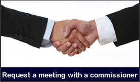 Meet with a commissioner