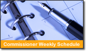 Commissioners' Weekly Schedule