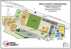Mesa County Fairgrounds Map