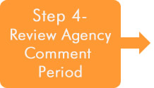 Step 4 - Review Agency Comment Period Button