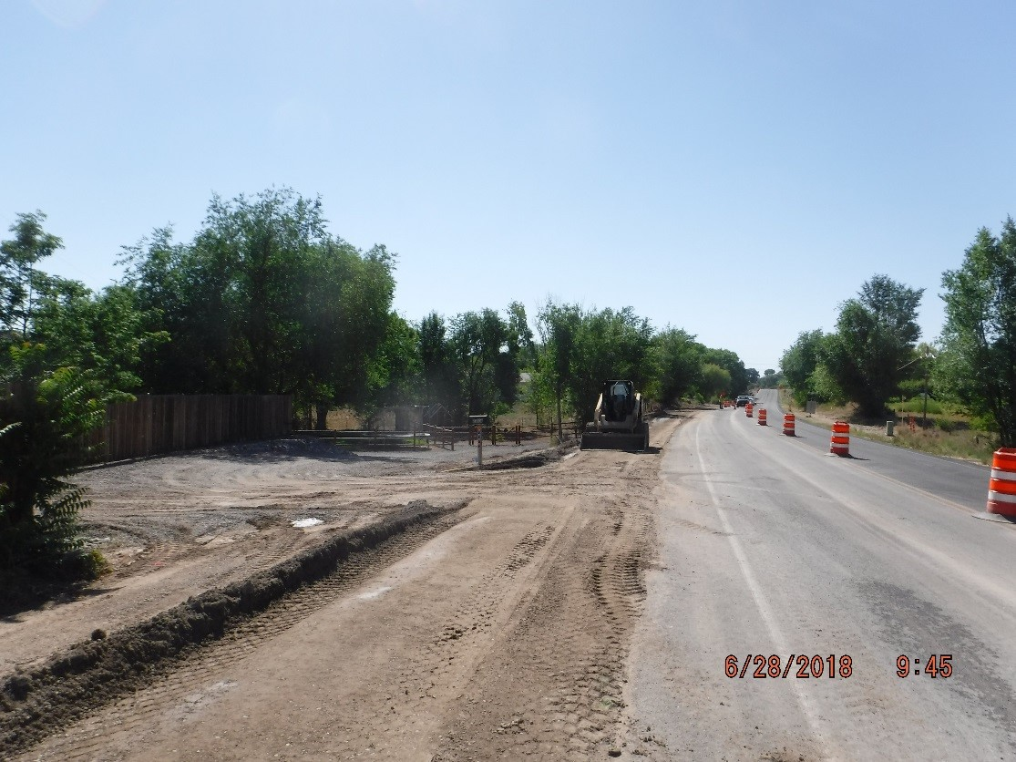 SH 340 Sidewalk Project, Vista Grande Drive to Kansas Avenue Currently