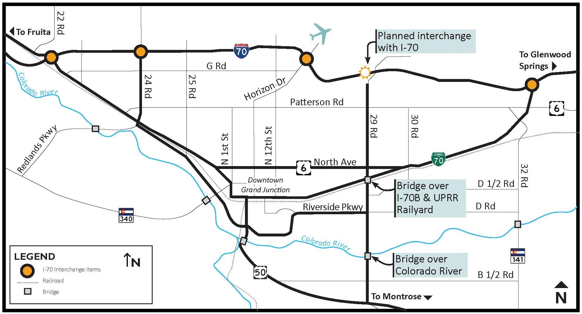 29 Road Interchange at 1-70 Planning Map